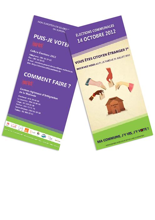 Flyer élections communales 2012